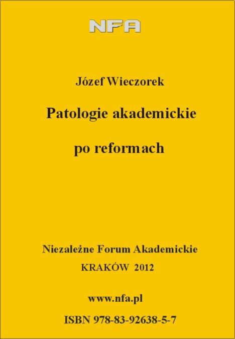 Patologie - okładka NFA